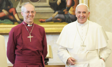 Justin Welby and Pope Francis