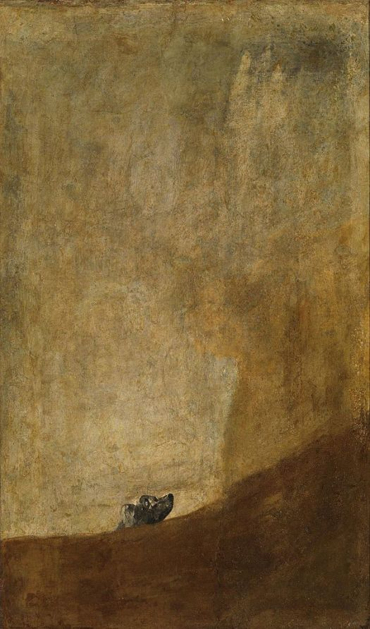 The Dog by Francisco Goya