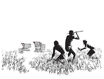 Hunters, by Banksy
