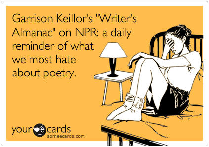 National Poetry Month greeting card - Garrison Keillor