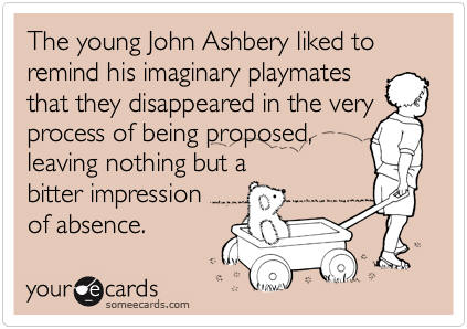 National Poetry Month greeting card - John Ashbery