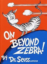 On Beyond Zebra cover
