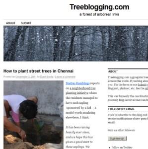 Treeblogging.com screenshot