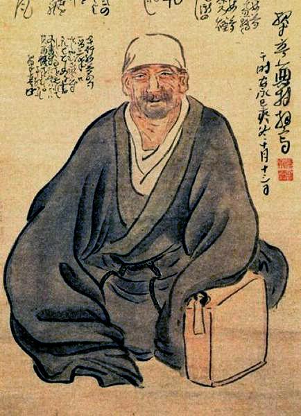 Basho portrait by Yosa Buson