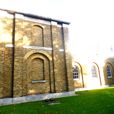 The new Dulwich Picture Gallery in bright sunlight