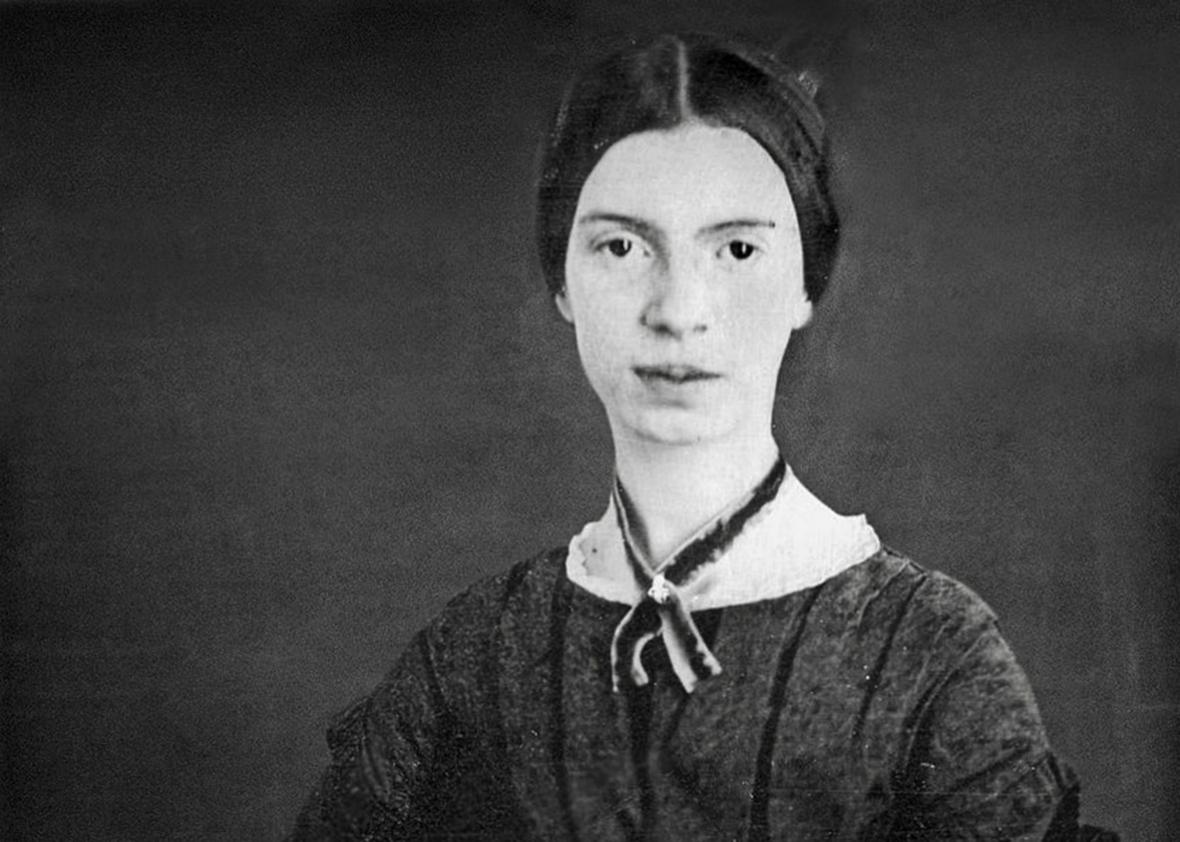 Emily Dickinson restored daguerreotype
