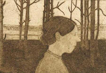 etching by Paula Modersohn-Becker