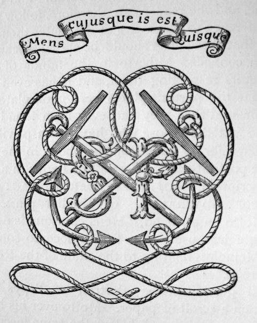 Samuel Pepys' bookplate