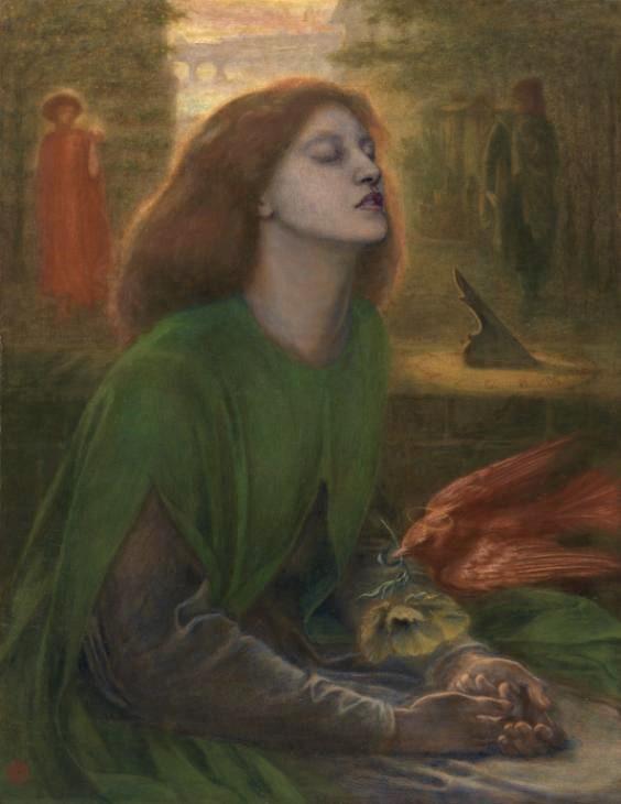 Beata Beatrix c.1864-70 by Dante Gabriel Rossetti 1828-1882