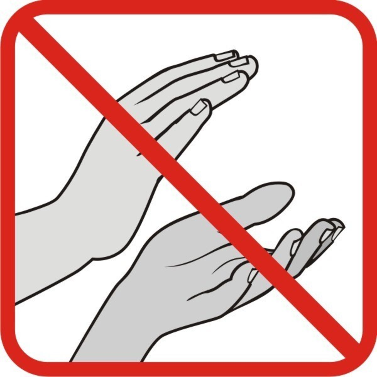 sign with a slash through clapping hands