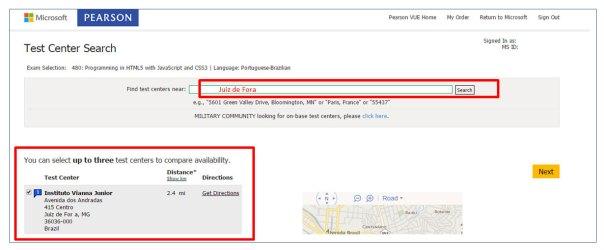 Certificação Microsoft Pearson Vue Vianna Jr passo 9