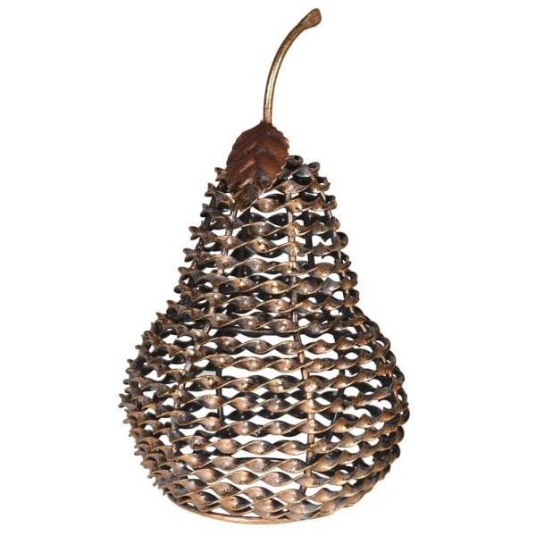 Decorative metal twist pear
