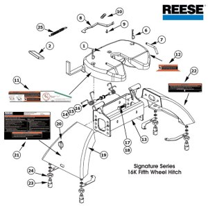 Reese 5th Wheel Hitch, 30057, 16K Signature Series