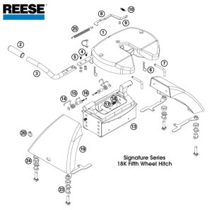 Reese 5th Wheel Hitch, 30058, 18K Signature Series