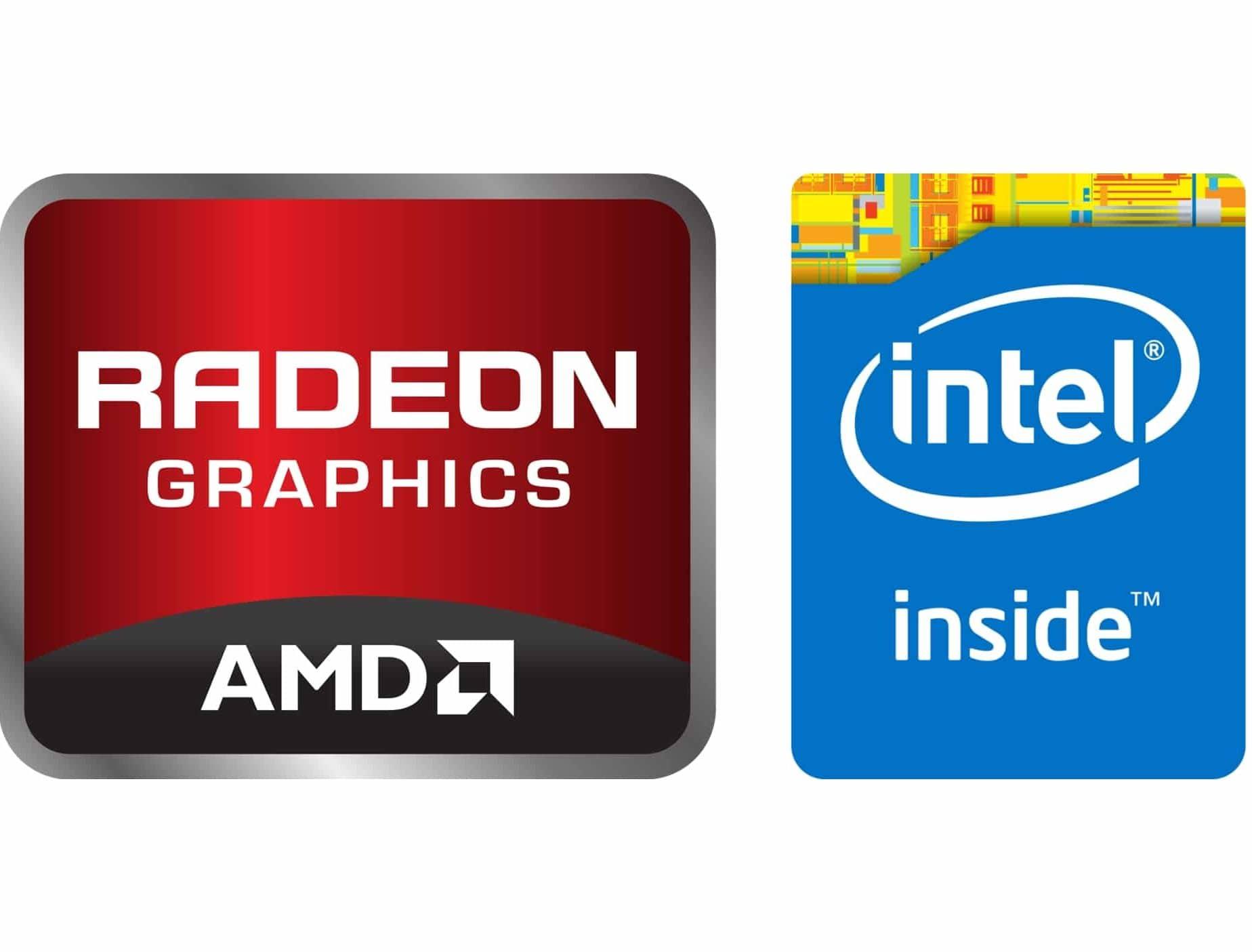 Logo AMD Radeon dan intel