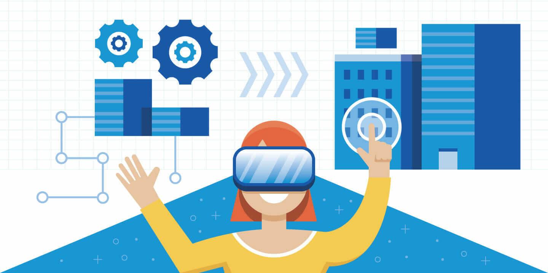 Ilustrasi Augmented Reality dan Virtual Reality