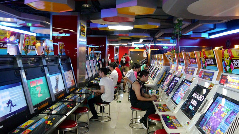 Suasana Game Arcade Center Di Negara Cina
