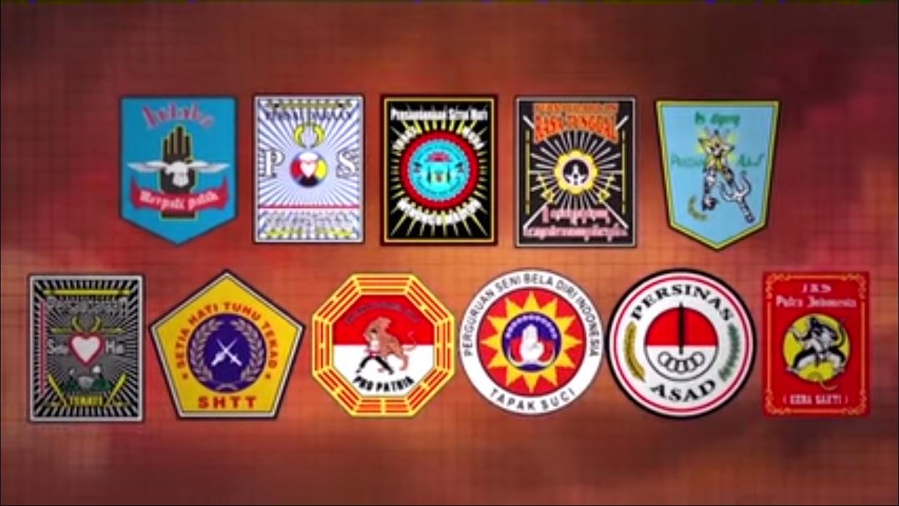 Beberapa Logo Dari Pencak Silat Yang Ada Di Indonesia, Juga Di Madiun