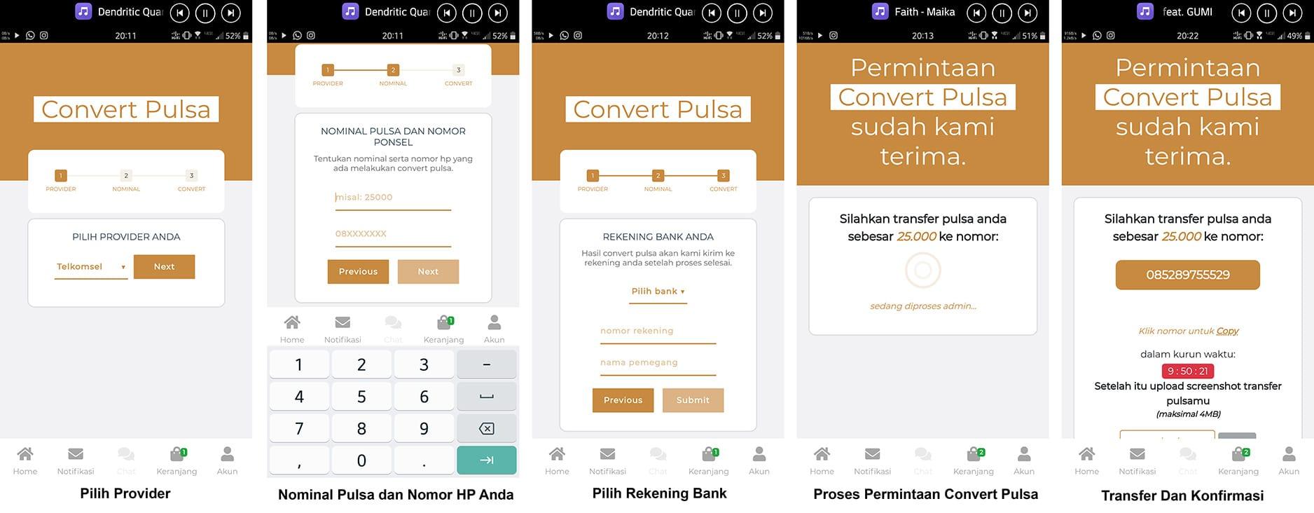 Cara Convert Pulsa Menggunakan Aplikasi Viapulsa