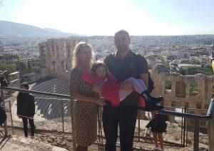 View de pe Acropole in Noiembrie fiind in saptamana 15 de sarcina