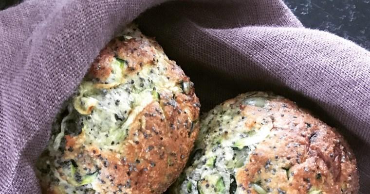 Zucchinifrallor, snabbt gott bröd