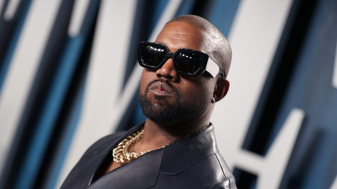 kanye west in shades and gold