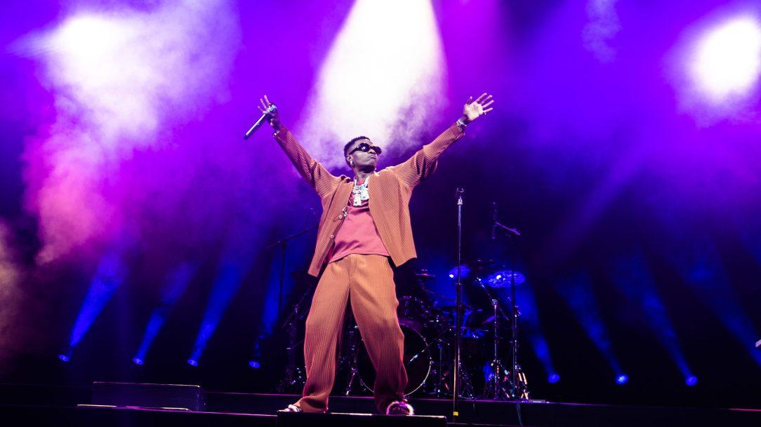 Wizkid on stage in Brooklyn