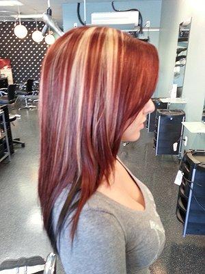 Chocolate brown hair red blonde highlights hairsstyles chocolate brown hair with red and blonde highlights hairs pmusecretfo Choice Image