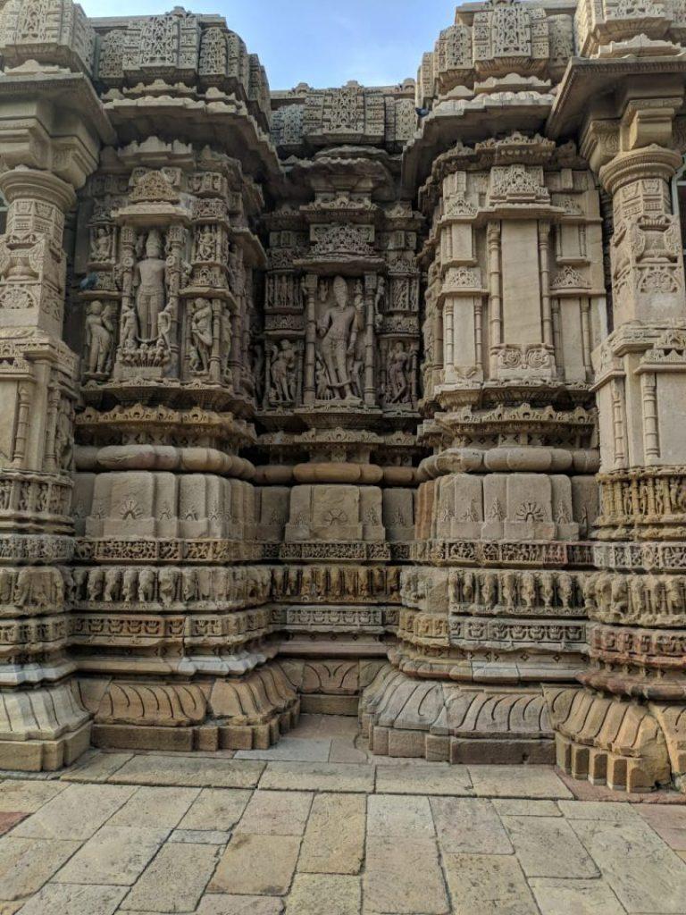 Pillars in Modhera Sun Temple