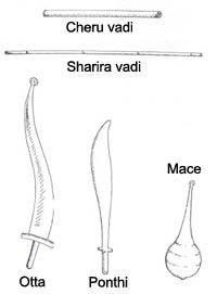 Kalaripayyatu weapons