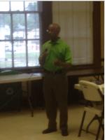Martavius Jones speaking to the Shelby County Democratic Primary Board