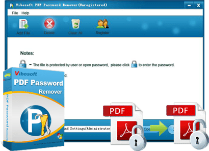 Vibosoft PDF password remover banner