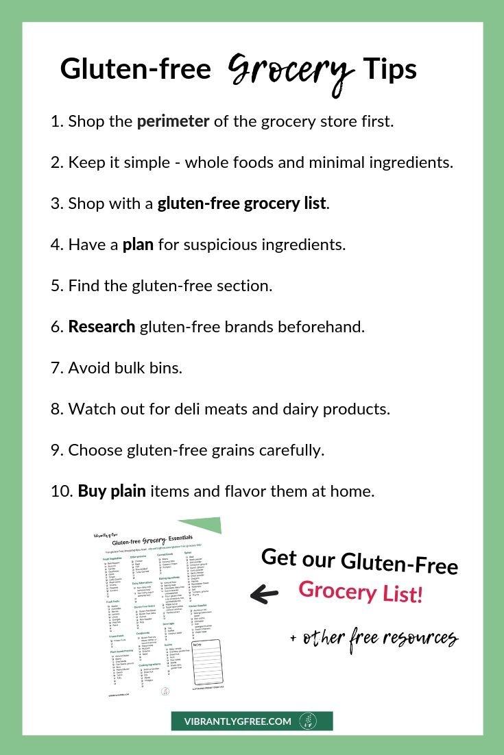 Gluten-free Grocery List Tips Summary