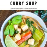 Easy Thai Coconut Curry Soup Pin 4
