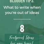 Blogging Ideas PIN 3