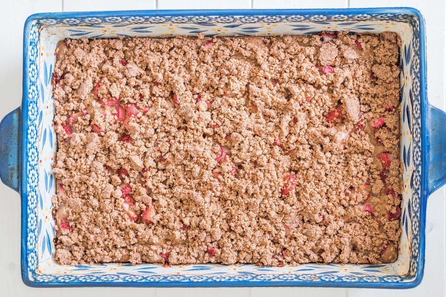 Strawberry Rhubarb Coffee Cake Pan