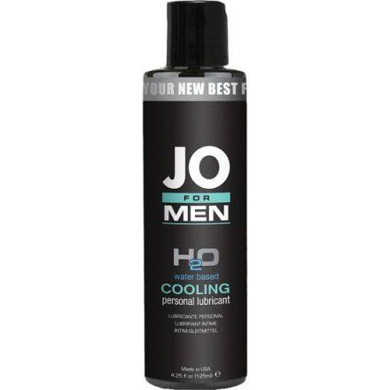 JO FOR MEN LUBRICANTE H2O EFECTO FRIO 125 ML
