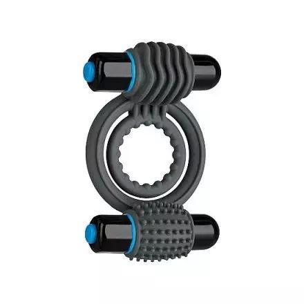 Anillo para el Pene Optimale – Double C.Ring Salate Black ejemplo de juguetes sexuales con vibración en Vibrashop