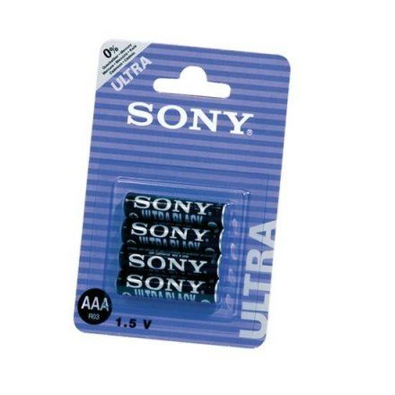 R03/AAA SONY NEW ULTRA 4 UDS pilas que incluye pack sexual