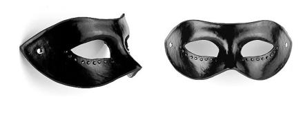 VIBRASHOP BDSM diamond-mascara-negro