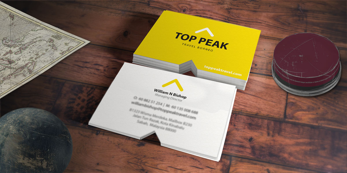 Top Peak Travel Borneo Branding - Business Cards