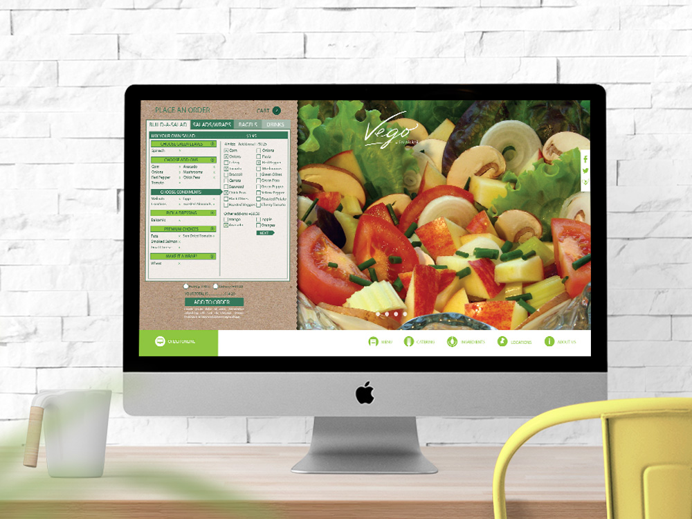 Vego Salad Bar Website Design