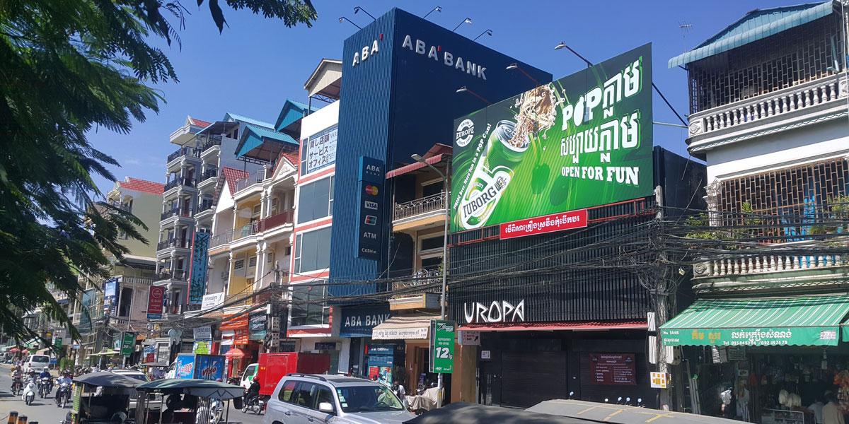 Tuborg Beer billboard outside Aeon mall