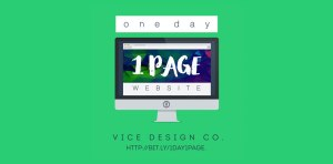 One Day One Page Website - Vice Design Co.