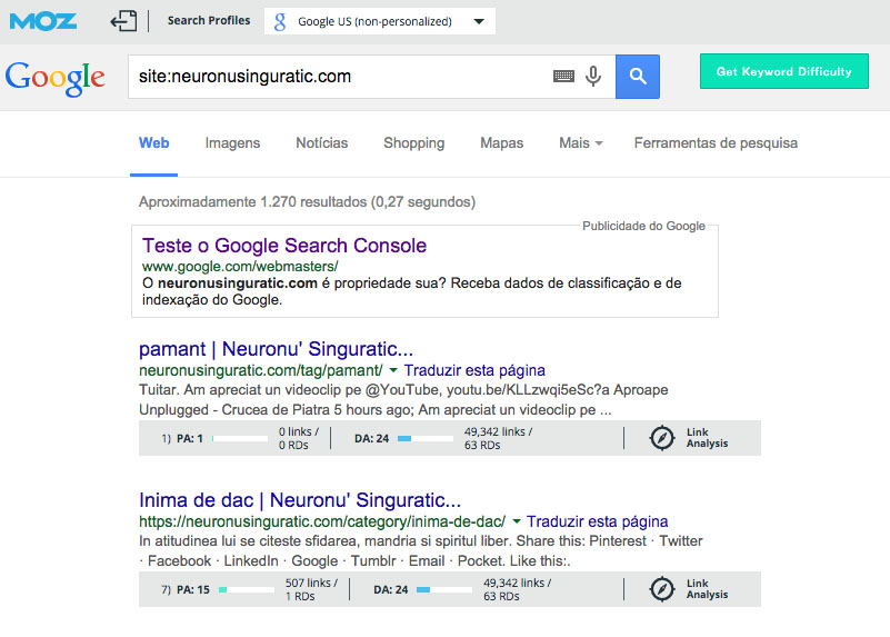 site indexado google