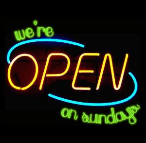 ¿Los domingos son o no son para comprar?