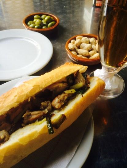 Bocata de Lleteroles (pocas) del Bar Sena