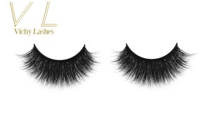 HOLES 3D transparent eyelashes handmade clear band lashes Premium soft clear band mink lashes with custom eyelash