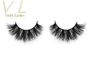 100% siberian mink lash wholesale 3D lashes with custom eyelash packaging 1pair per box