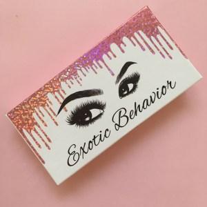 Custom Eyelash Box With Foil Dripping